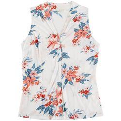 Lynn Ryan Petite Floral Printed Sleevless Top
