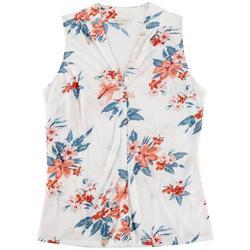 Lynn Ryan Petite Floral Printed Sleeveless Top