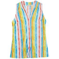 Lynn Ryan Petite Stripe Printed Sleeveless Top