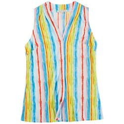 Lynn Ryan Petite Striped Printed Sleevless Top