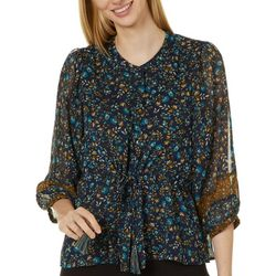 John Paul Richard Petites Floral Button Down Top