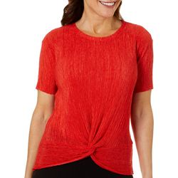John Paul Richard Petite Solid Twist Front Top