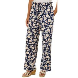 John Paul Richard Petite Floral Puff Print Soft Pants