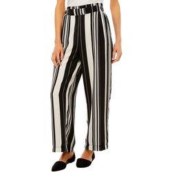 John Paul Richard Petite Striped Pull On Pants