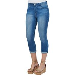 Democracy Womens Rolled Cuff Capris Jeans
