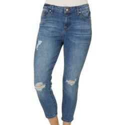 Celebrity Pink Petite Mid Rise Denim Cropped Jeans