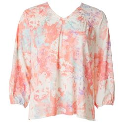 Cure Apparel Petite Tie Dye Long Sleeve Knit