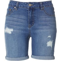 D. Jeans Petite High Waist Destructed Shorts