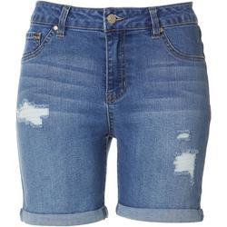 Petite High Waist Destructed Shorts