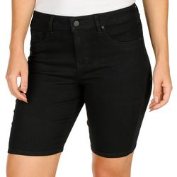 Petite High Waist Bermuda Shorts