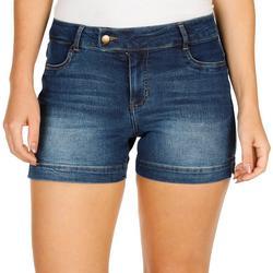 Petite High Waist Denim Shorts