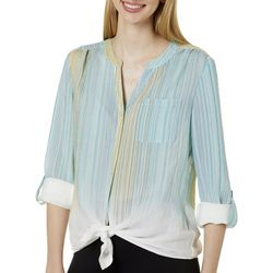 Zac & Rachel Petite Striped Top