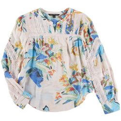 Zac & Rachel Womens Long Sleeve Printed Top