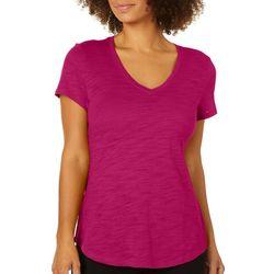 Dept 222 Petite V-Neck Solid T-Shirt