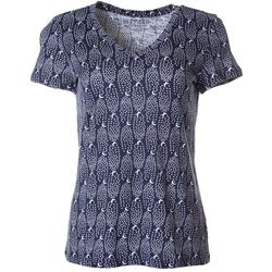 Dept 222 Petite Night Sky Print V-Neck T-Shirt