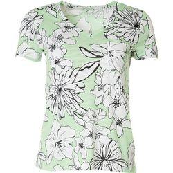 Dept 222 Petite Luxey Floral V-Neck Shirt