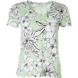 Petite Luxey Floral V-Neck Shirt