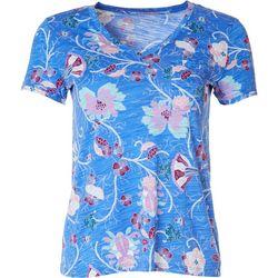 Dept 222 Petite Luxey Boho V-Neck Shirt
