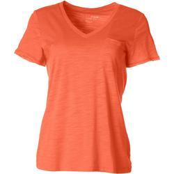 Petite Luxey V-Neck Chest Pocket T-Shirt