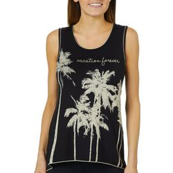 Vanilla Sugar Petite Embellished Vacation Forever Tank Top