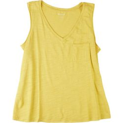 Dept 222 Petite V-Neck Luxey Sleeveless Top