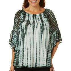 Studio West Petite 3/4 Sleeve Tie Dye Top
