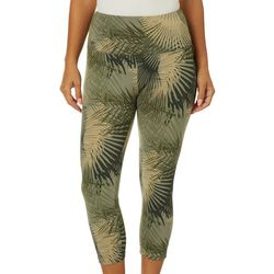 Khakis & Co Petite Tropical Palm Print Capri Leggings