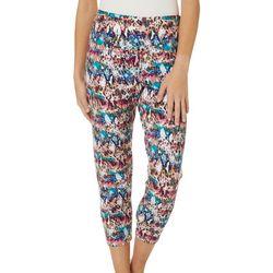 Khakis & Co Petite Colorful Snakeskin Print Capri Leggings
