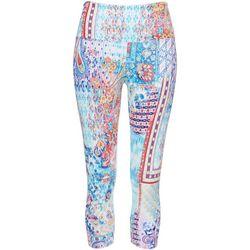 Khakis & Co Petite Patchwork Print Capri Leggings