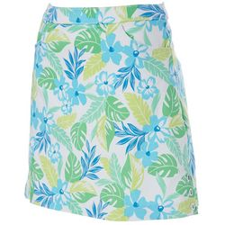 Hearts of Palm Petite Color Binge Floral Tech Stretch Skort
