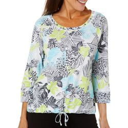 Hearts of Palm Petite In The Limelight Pull Over Top
