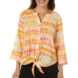 Hearts of Palm Petite Citrus Blast Tie Dye Top