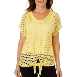 Hearts of Palm Petite Citrus Blast Tie Front Top