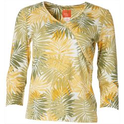 Hearts of Palm Petite Essentials Palm Fronds Top