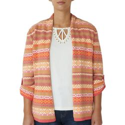 Hearts of Palm Petite Diamond Stripe Cardigan