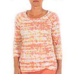 Petite Tie Dye Print Embellished Top