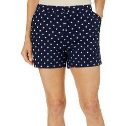 Caribbean Joe Petite Star Print Shorts