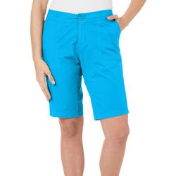 Caribbean Joe Petite Solid Cuffed Hem Shorts