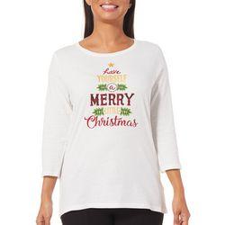 Caribbean Joe Petite Merry Little Christmas Top