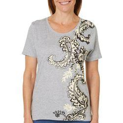 Caribbean Joe Petite Paisley T-Shirt