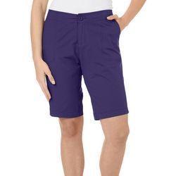 Caribbean Joe Petite Solid Bermuda Shorts