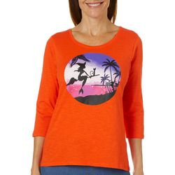 Caribbean Joe Petite Tropical Witch Top