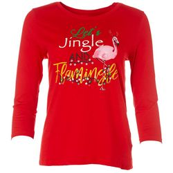 SunBay Petite Graphic Coastal Christmas Top