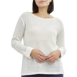 Petite Solid Button Back Beach Sweater