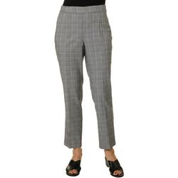 Briggs Petite Millennium Plaid Print Pull On Pants