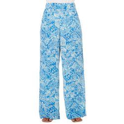 Notations Petite Floral Print Crepe Pants