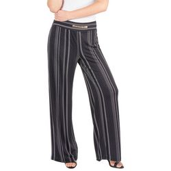 Notations Petite Chain Front Dotted Stripe Pants