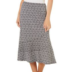 Notations Petite Geometric Print Skirt