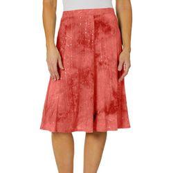 Sami & Jo Petite Sequin Embellished Printed A-Line Skirt