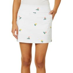 Zac & Rachel Petite Floral Bouquet Pull On Skort